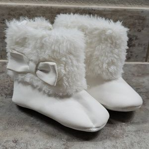 White Soft Bootie Boots
